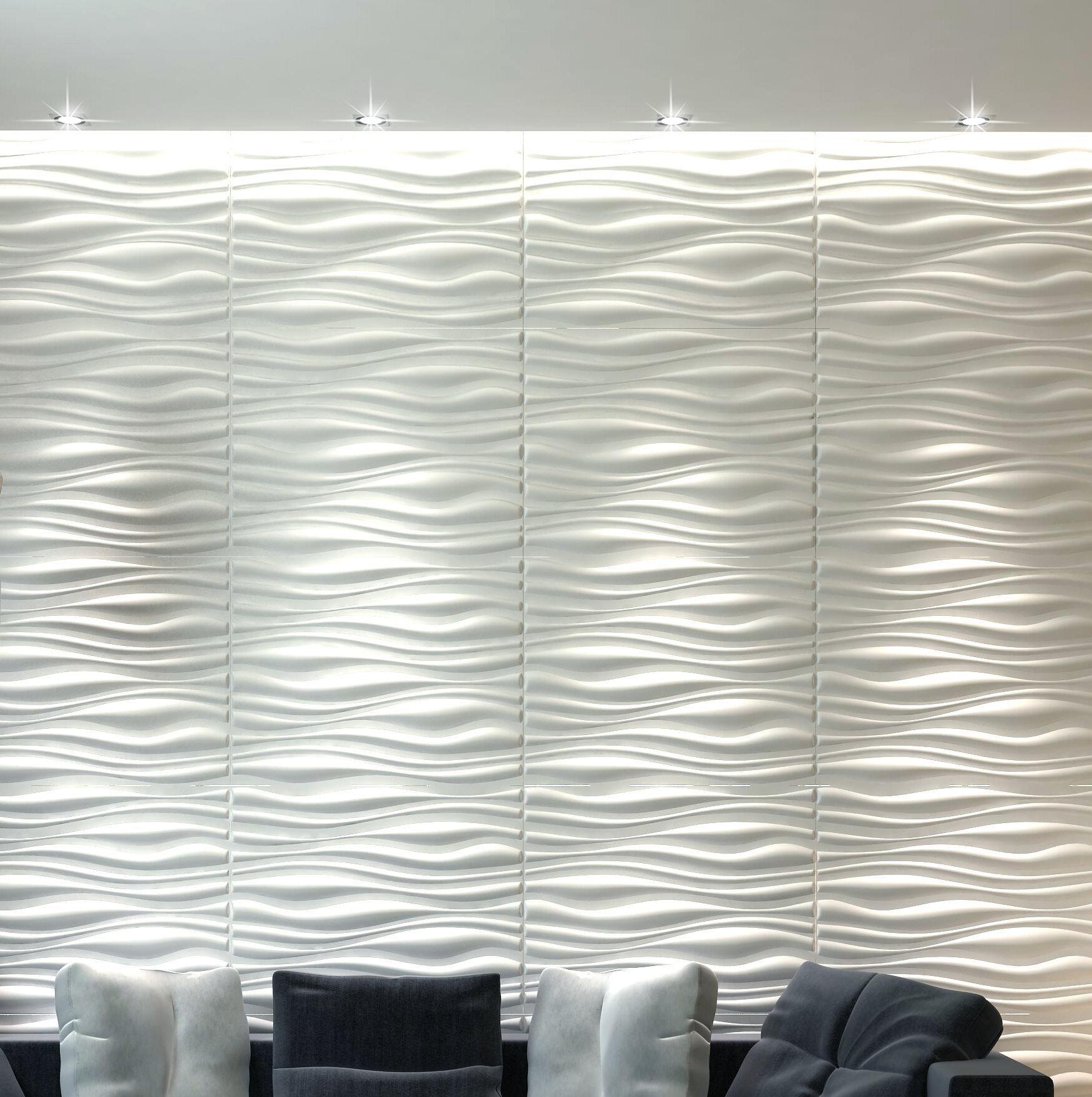 Orren Ellis 20 X 20 Vinyl Wall Paneling In Gloss White Wayfair