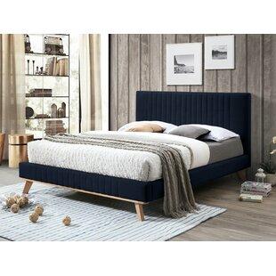 Review Warner Upholstered Bed Frame