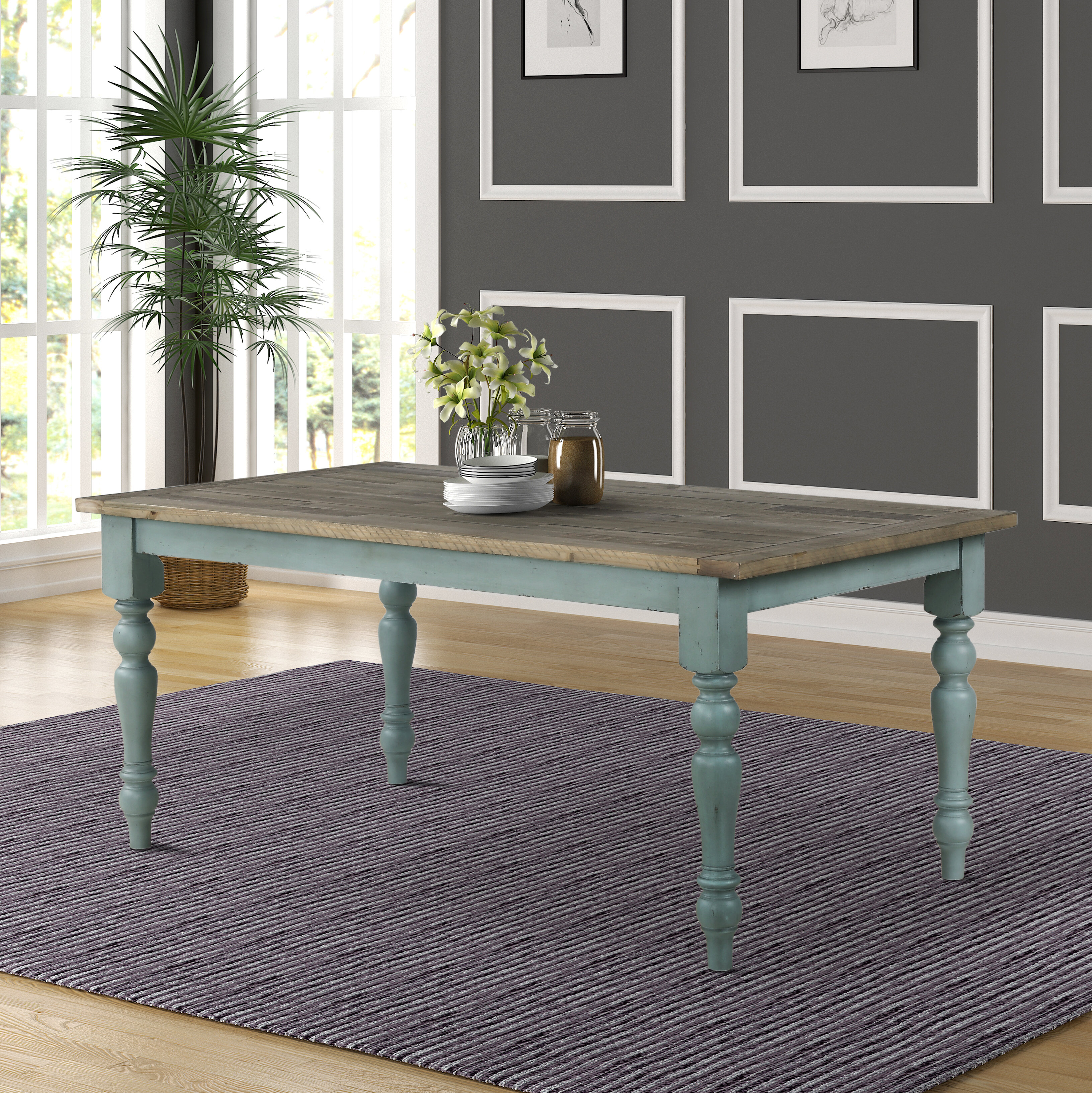 Delicieux Cierra Two Tone Dining Table