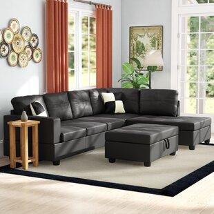 Light Tan Leather Sectional Wayfair