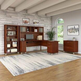 Red Barrel Studio Lumley 4 Piece L-shaped Desk Office Suite