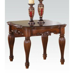 Anson Wooden Carved Details End Table by Astoria Grand