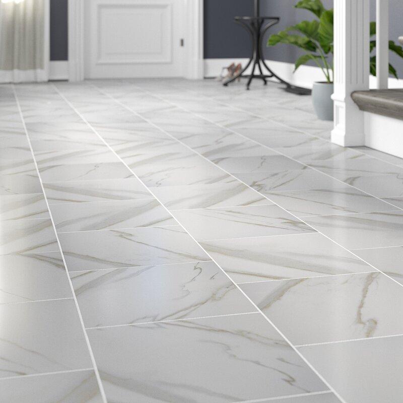 Msi Pietra Calacatta 12 Quot X 12 Quot Porcelain Field Tile In