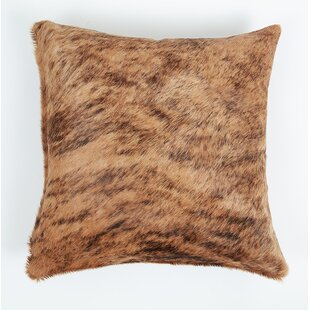 Coachman Brindle Natural Leather Pillow Cover