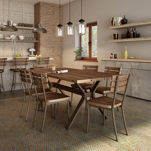 Modern Contemporary Industrial Dining Set AllModern - Industrial dining room chairs