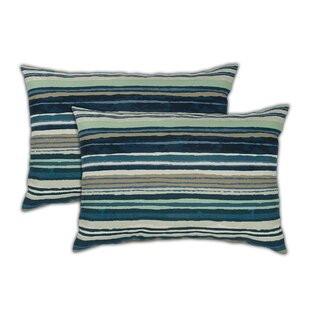 Lakeview Boudoir Outdoor Lumbar Pillow (Set of 2)