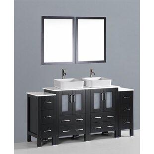 Netto 72 Double Bathroom Vanity Set with Mirror by Ebern Designs