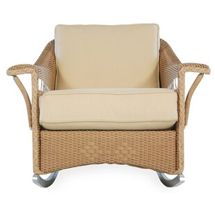 Lloyd Flanders Nantucket Wild Rosette Lounge Rocking Chair with Cushions