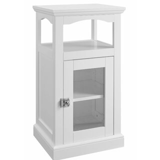 Alfonso Wood and Glass Demi Accent Cabinet by Rosecliff Heights SKU:BE767814 Price Compare