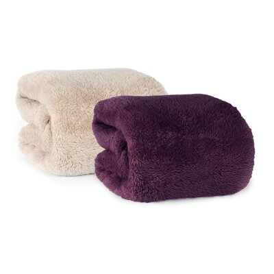 Berkshire Blanket Extra-Fluffy Fabric Throw Berkshire Blanket Color: Eggplant
