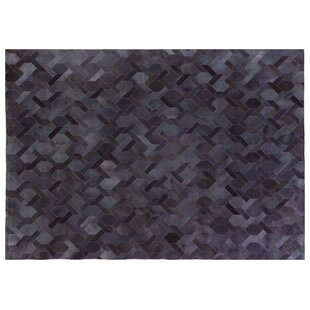 Natural Hide Hand-Tufted Cowhide Blue Area Rug by Exquisite Rugs