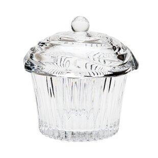 1-Piece Veronical Crystal Cupcake Box ByGodinger Silver Art Co