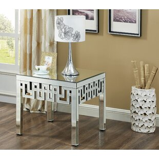 Luong Mirrored End Table b..