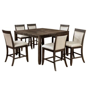Gayet 7 Piece Dining Set Hokku Designs