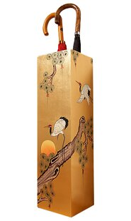 Gold Leaf Crane Umbrella Stand By World Menagerie