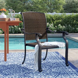 Harland Patio Dining Chair With Cushion by Sol 72 Outdoor Top Reviews