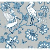 Bowerman Egrets 27' L x 27 W Wallpaper Roll by World Menagerie