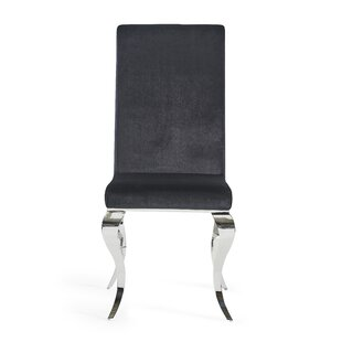 Wellings Velvet Upholstered Dining Chair by Orren Ellis