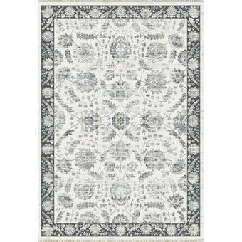 T Style Dairy Blue And Black Area Rug Wayfair