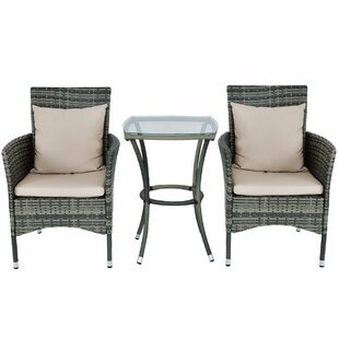 Grena 3 Rattan 2 Person Seating Group with Cushions