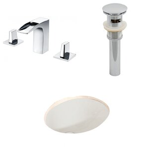 Reviews Ceramic Oval Undermount Bathroom Sink with Faucet and Overflow By American Imaginations