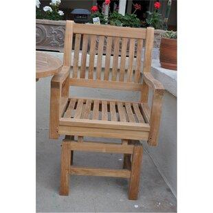 Rialto Teak Patio Dining Chair with Cushion