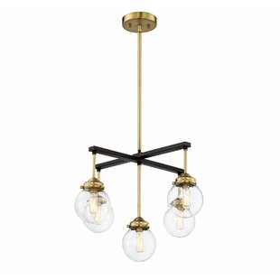 Suffield 5-Light Shaded Chandelier by George Oliver