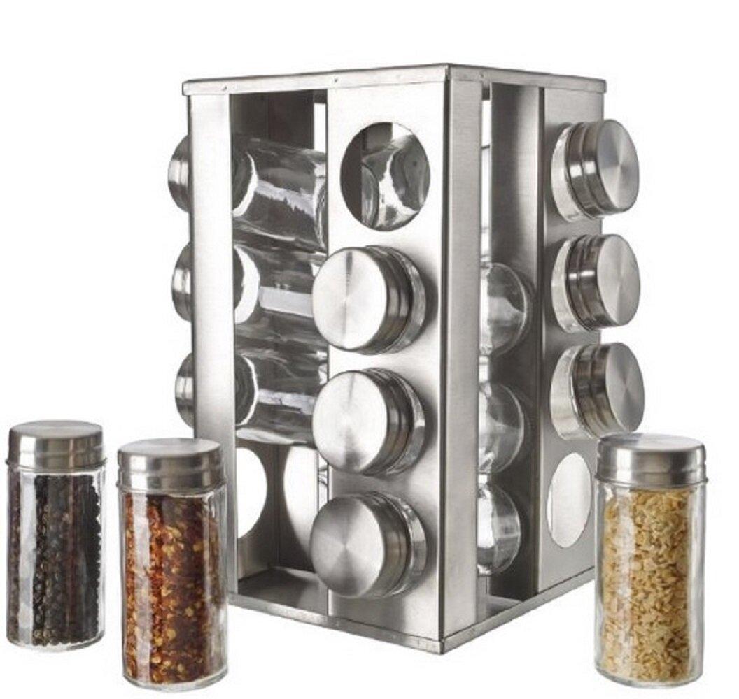5th ave store rotating 16 jar spice jar rack set reviews wayfair