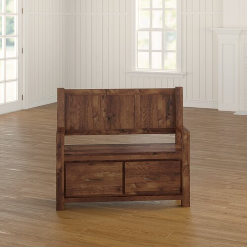 Emmalynn Wood Storage Hallway Bench Ebern Designs