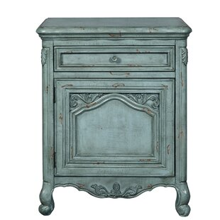Ophelia & Co. Keim Ornate 1 Drawer Accent Cabinet