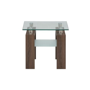 Buy clear Heiden End Table by Wrought Studio