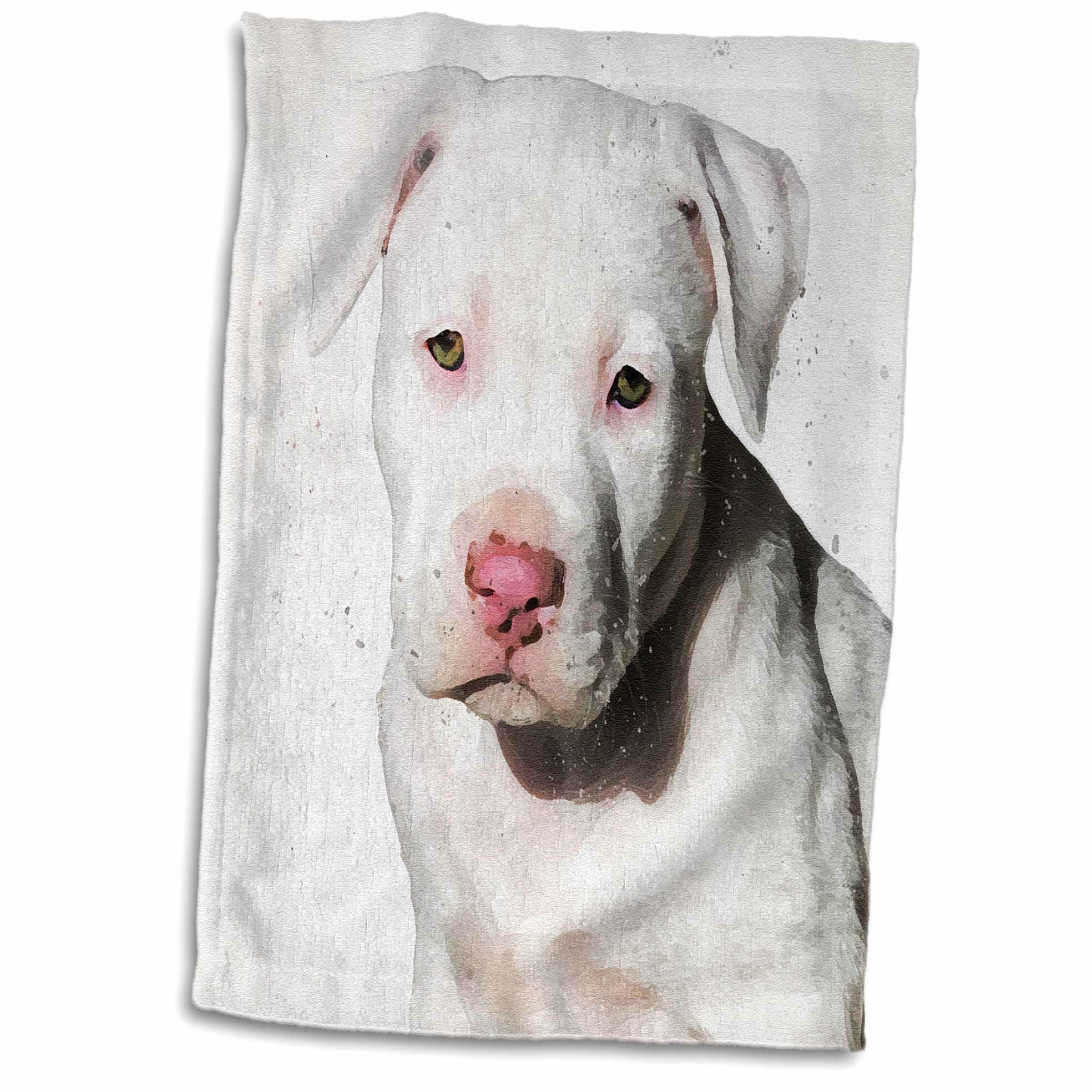 East Urban Home American Staffordshire Terrier Pit Bull Puppy Watercolor Hand Towel Wayfair