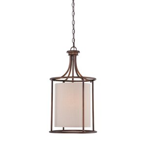 Steuben Rubbed Bronze 2-Light Foyer Pendant