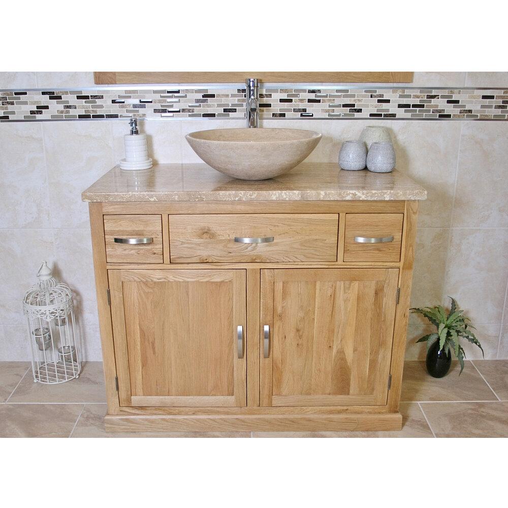 Belfry Bathroom Mateo Solid Oak 1000mm Free Standing Vanity Unit Wayfair Co Uk