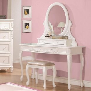 Diep Vanity Set with Mirror by Harriet Bee