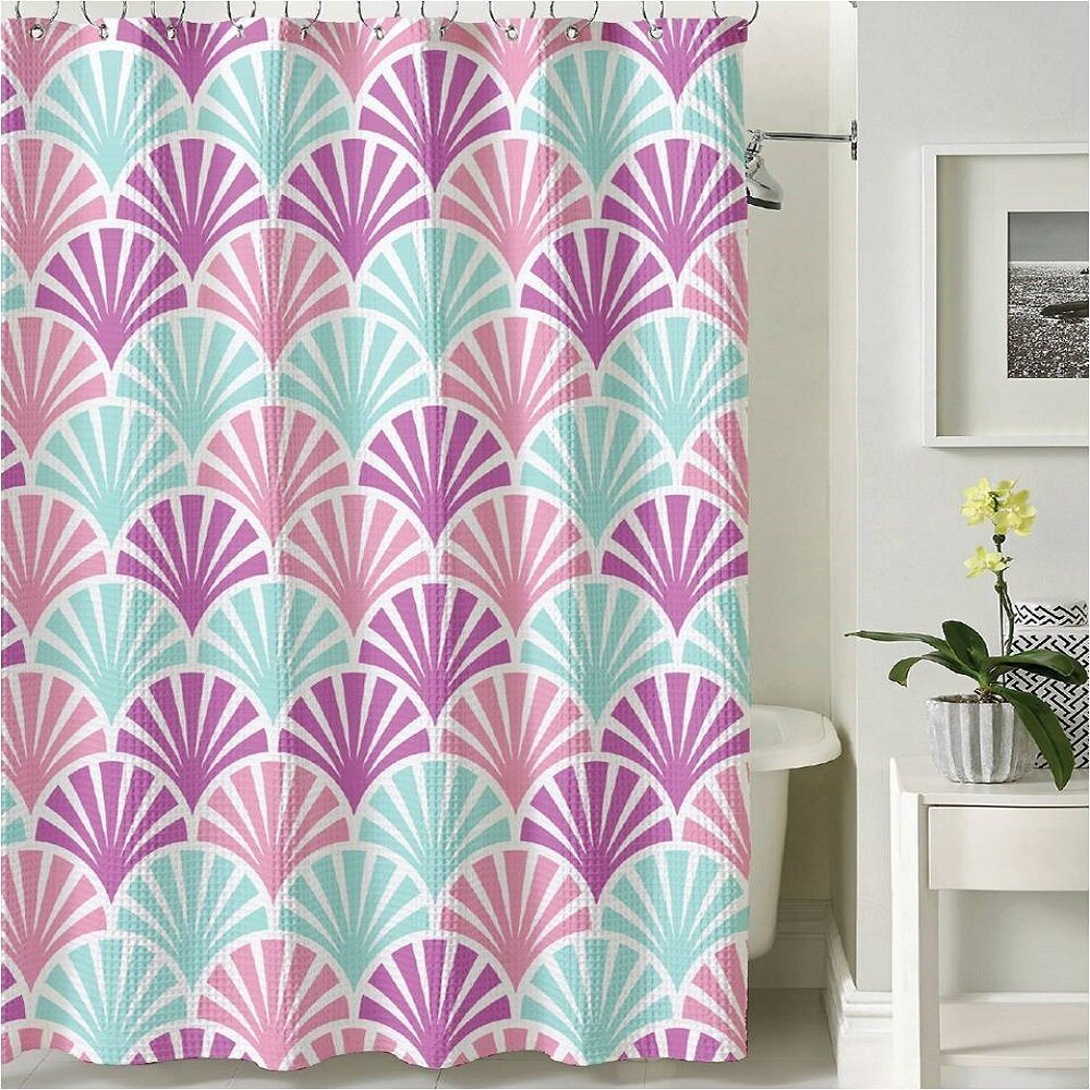BHPNY Scallop Shower Curtain