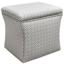 Cross Section Nail Button Storage Ottoman by Skyline Furniture