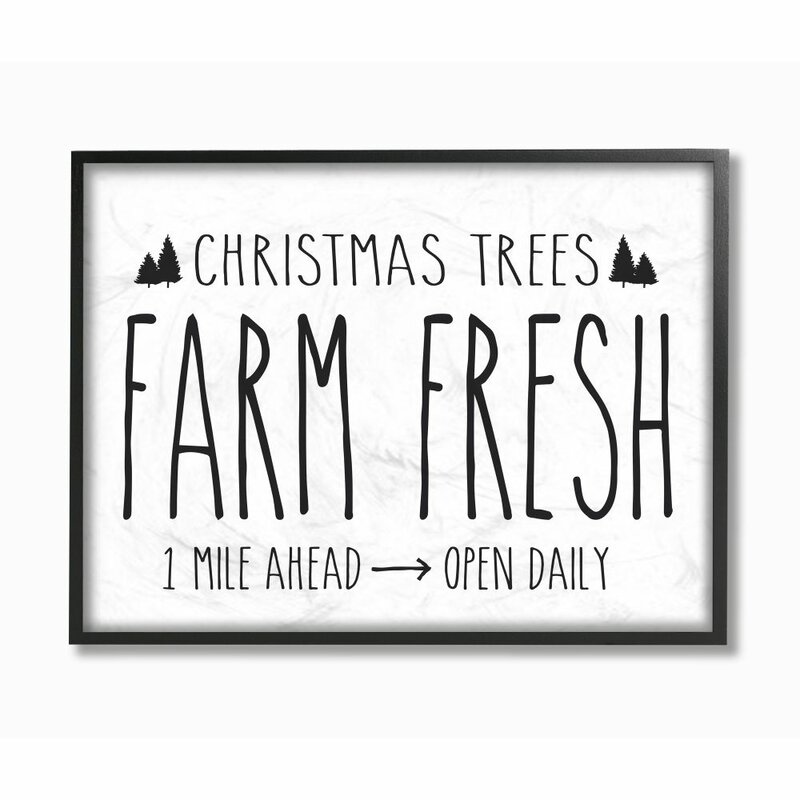 Christmas Tree Farm Southern California: The Holiday Aisle 'Christmas Trees Farm Fresh' Textual Art
