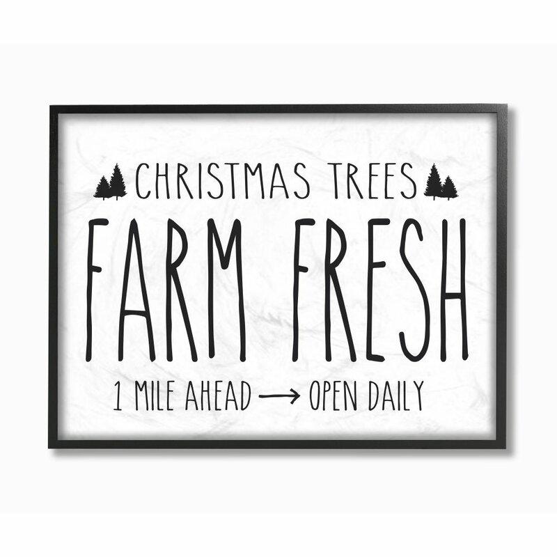 Christmas Tree Farm Southern California: The Holiday Aisle 'Christmas Trees Farm Fresh' Textual Art