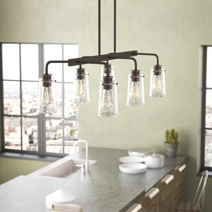 Affordable Price Fruita Linear 6-Light Kitchen Island Pendant By Trent Austin Design