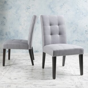 Trinity Place Upholstered Dining Chair (Set of 2) Latitude Run