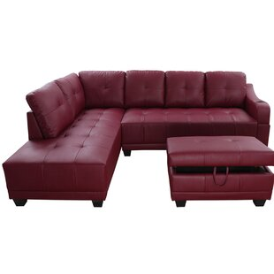Ebern Designs Caius Sectional with Ottoman