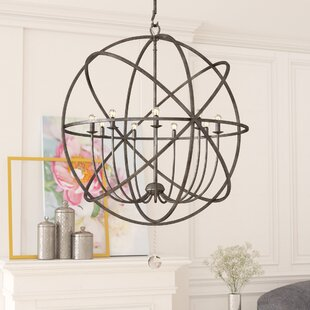 Willa Arlo Interiors Gregoire 9-Light Globe Chandelier