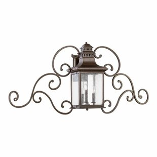 Brittany 3-Light Outdoor Wall Lantern By Alcott Hill Outdoor Lighting
