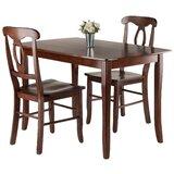 Hemphill 3 Piece Solid Wood Dining Set by Red Barrel Studio®