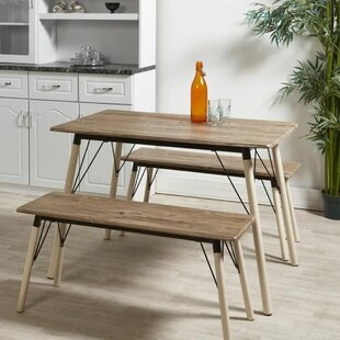 Yuliana Dining Set With 2 Chairs And 2 Benches By Isabelline