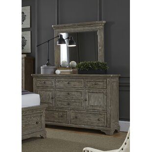 Barkell 7 Drawer Combo Dresser With Mirror by DarHome Co Sale