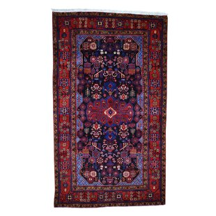 Reviews One-of-a-Kind Kelley Wide Gallery Hand-Knotted 5'7 x 9'6 Wool Black/Blue/Red Area Rug By Isabelline