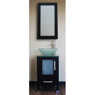 Secrest 18 Single Bathroom Vanity Set with Mirror by Latitude Run