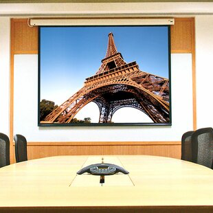 Baronet White Electric Projection Screen